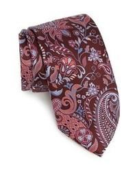 Cravatta stampata bordeaux