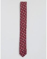 Cravatta stampata bordeaux di Asos