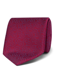 Cravatta stampata bordeaux di Charvet