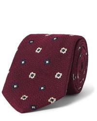 Cravatta stampata bordeaux di Drake's