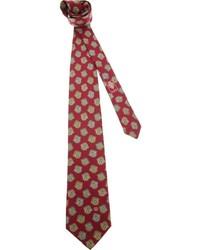 Cravatta stampata bordeaux di Gucci