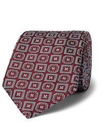 Cravatta stampata bordeaux di Kingsman
