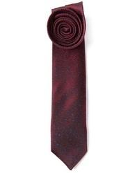 Cravatta stampata bordeaux di Mr Start