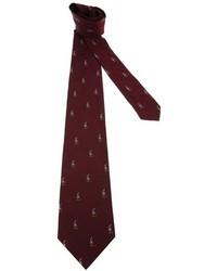 Cravatta stampata bordeaux di Polo Ralph Lauren