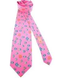 Cravatta stampata fucsia