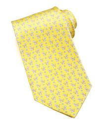 Cravatta stampata gialla