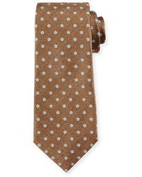 Cravatta stampata marrone chiaro