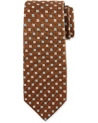 Cravatta stampata marrone