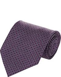 Cravatta stampata melanzana scuro