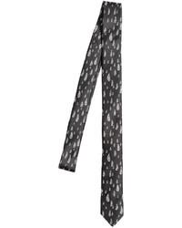 Cravatta stampata nera e bianca