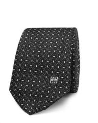 Cravatta stampata nera e bianca di Givenchy