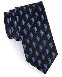 Cravatta stampata nera