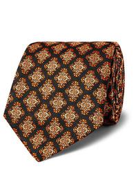 Cravatta stampata nera di Kingsman