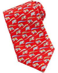 Cravatta stampata rossa