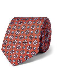 Cravatta stampata terracotta