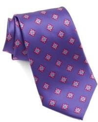 Cravatta stampata viola