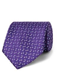 Cravatta stampata viola di Charvet