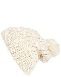 Cuffia lavorato a maglia beige