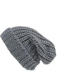 Cuffia lavorato a maglia grigio