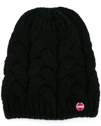 Cuffia lavorato a maglia nero