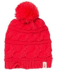 Cuffia lavorato a maglia rosso