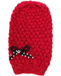 Cuffia lavorato a maglia rosso di Twin-Set