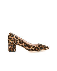 Décolleté in cavallino leopardati marrone chiaro di Loeffler Randall