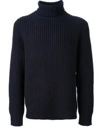 Dolcevita di lana blu scuro