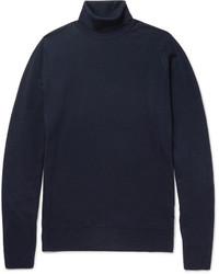 Dolcevita di lana blu scuro di John Smedley