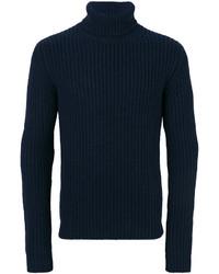 Dolcevita di lana blu scuro da uomo su farfetch.com  f82a8fa2c139