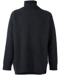 Dolcevita di lana grigio scuro