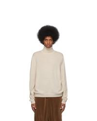 Dolcevita di lana lavorato a maglia bianco di Gucci