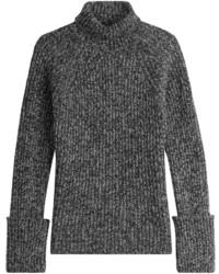 Dolcevita di lana lavorato a maglia grigio scuro