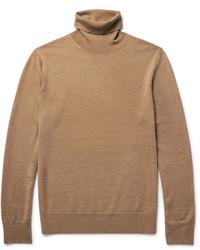 Dolcevita di lana marrone chiaro