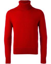 Dolcevita di lana rosso