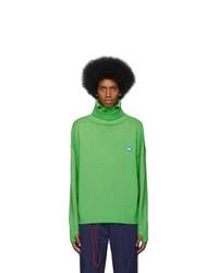 Dolcevita di lana verde