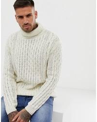 Dolcevita lavorato a maglia beige di Pull&Bear