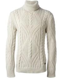 Dolcevita lavorato a maglia beige di Woolrich