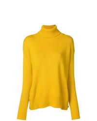 Dolcevita lavorato a maglia giallo