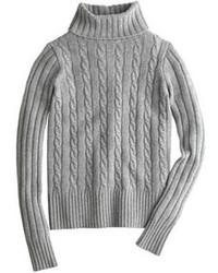 Dolcevita lavorato a maglia grigio