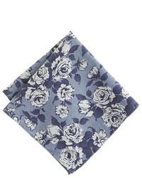 Fazzoletto da taschino a fiori blu scuro