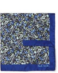 Fazzoletto da taschino a fiori blu scuro di Paul Smith