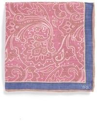 Fazzoletto da taschino a fiori rosa
