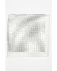 Fazzoletto da taschino a pois bianco