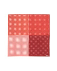 Fazzoletto da taschino a pois rosso e bianco
