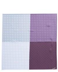Fazzoletto da taschino a pois viola chiaro
