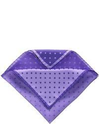 Fazzoletto da taschino a pois viola