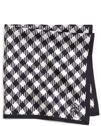 Fazzoletto da taschino a quadretti bianco e nero