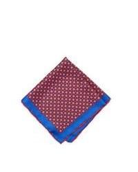 Fazzoletto da taschino bianco e rosso e blu scuro