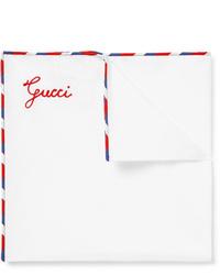 Fazzoletto da taschino bianco di Gucci